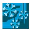 kräftiger Schneeregenschauer